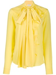 Faith Connexion Ruffled Long Sleeve Shirt Yellow