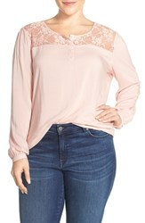 Plus Size Women's Junarose 'Adele' Lace Yoke Blouse