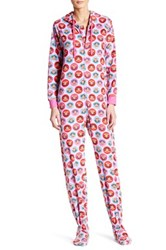 Paul Frank Printed Fleece Jumpsuit Pink