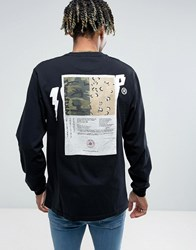 10.Deep Long Sleeve T Shirt With Back Patch Black