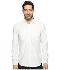 Timberland Mumford River Classic Chambray Shirt Wind Chime Yarn Dye Men's Long Sleeve Button Up White
