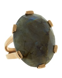 Stephen Dweck Oval Cut Labradorite Ring 7