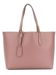 Burberry Medium Reversible Tote Women Calf Leather One Size Pink Purple