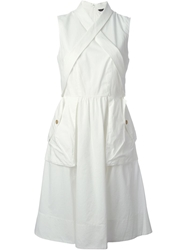 Marc By Marc Jacobs Crisscross Strap Detail Sleeveless Dress White