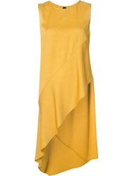 Zero Maria Cornejo Asymmetric Elongated Blouse Yellow Orange