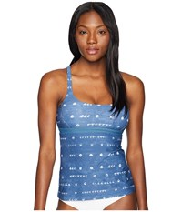 Carve Designs Hana Tankini Shibori Swimwear Blue