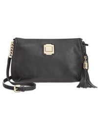 Calvin Klein Tassel Crossbody Black Gold