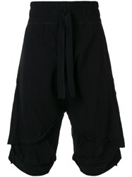 Barbara I Gongini Casual Layered Shorts Black