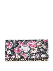 Alexander Mcqueen Floral Print Leather Travel Wallet