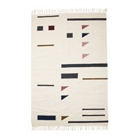 Ferm Living Kelim Colour Triangles Rug Large