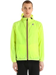 K Way Le Vrai 3.0 Claude Packable Nylon Jacket Yellow