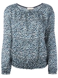 Tory Burch Printed Scoop Neck Blouse