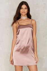 Glamorous Lina Satin Slip Dress Pink