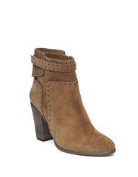 Vince Camuto Faythes Studded Suede Ankle Boots Cognac