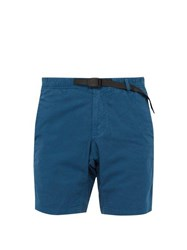 Gramicci Belted Stretch Cotton Twill Shorts Blue