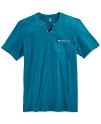 Inc International Concepts Men's Dean Split Neck T Shirt Only At Macy's Blue Jewel