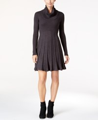 Calvin Klein Cowl Neck Sweater Dress Charcoal