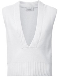 Christophe Lemaire Knitted Tank Top White