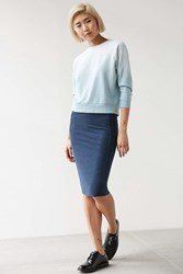 Silence And Noise Silence Noise Dex Rib Knit Midi Skirt Blue Multi