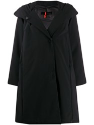 Rrd Flared Boxy Fit Rain Coat Black