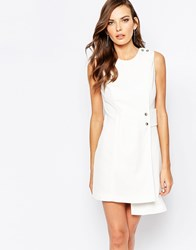 Finders Keepers The Orient 60S Shift Dress In Ivory Ivory Multi