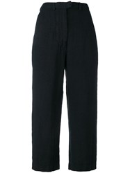 Kristensen Du Nord Cropped Straight Trousers Blue