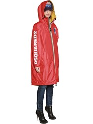 Dsquared K Way Reversible Logo Nylon Rain Parka