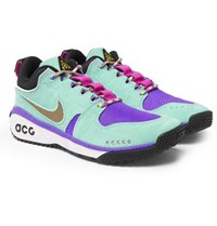 Nike Acg Dog Mountain Suede And Mesh Sneakers Turquoise