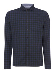 Criminal Toby Gingham Long Sleeve Shirt Blue