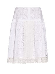 Queene And Belle Marianna Broderie Anglaise Skirt White