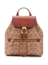Coach Evie Backpack In Signature Canvas Neutrals
