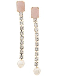 Ca And Lou Clotilde Long Clip On Earrings Pink