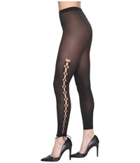 Wolford Lace Up Leggings Gobi Black Hose Neutral
