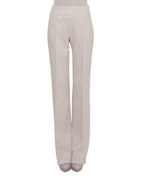Akris Carla Tweed Wide Leg Pants Gravel