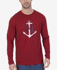 Nautica Space Dyed Logo T Shirt Red