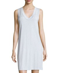 Hanro Champagne Tank Nightgown Ashley Blue