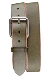 Men's Bill Adler 1981 'Jelly Bean' Raw Edge Leather Belt Green Apple