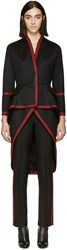 Givenchy Black And Red Military Coat