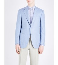 Canali Single Breasted Wool Blend Jacket Lt Blue