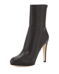 High Heel Leather Boot Black Sergio Rossi