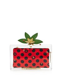 Charlotte Olympia Lucky Pandora Box Clutch Transparent Gold