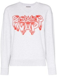 Ashley Williams Power Nap Print Sweatshirt Grey