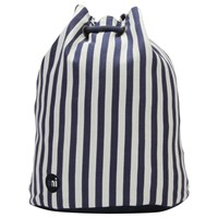 Mi Pac Seaside Stripe Swing Backpack Indigo And White
