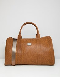 Peter Werth Holdall In Textured Tan