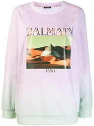 Balmain Pyramid Graphic Sweatshirt Pink