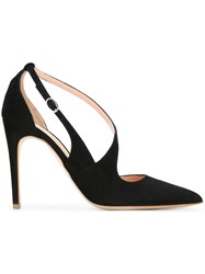 Rupert Sanderson 'Vale' Strappy Heeled Pumps Black