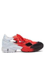 Raf Simons X Adidas Replicant Ozweego Mesh And Leather Trainers Red Multi