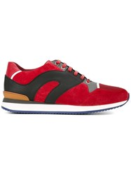 Christian Dior Homme Panelled Sneakers Red