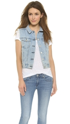 Rag And Bone Denim Vest Bleachout