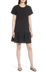 Halogen Short Sleeve Ruffle Hem Dress